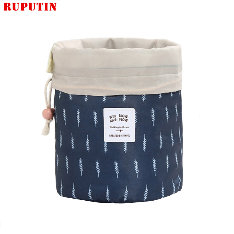 RUPUTIN Drop Ship New Round Women Makeup Bag High Quality Travel Make Up Organizer Cosmetic Female Storage Toiletry Kit Case