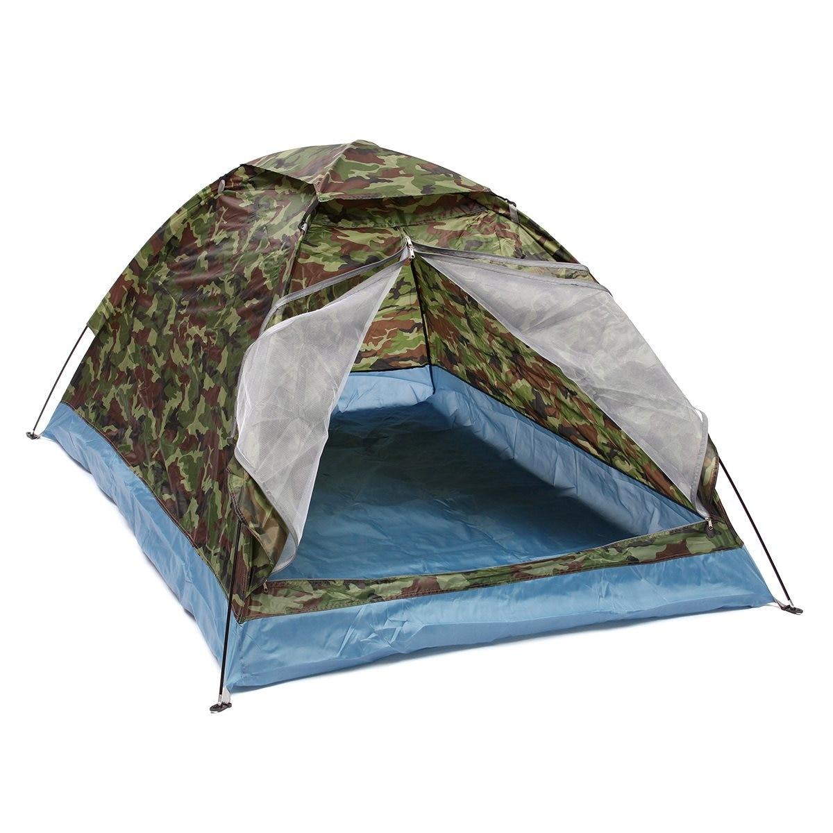 Outdoor 200*140*110 cm Oxford panno PU rivestimento impermeabile 4 stagioni 2 persone singolo strato di campeggio del Camuffamento tenda trekking