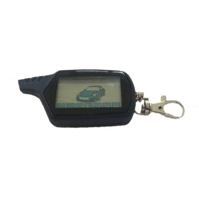 2-way B9 LCD Remote Control Keychain for Russian Vehicle Security Car Alarm System Twage Starline B9 Key Fob Chain Engine Start