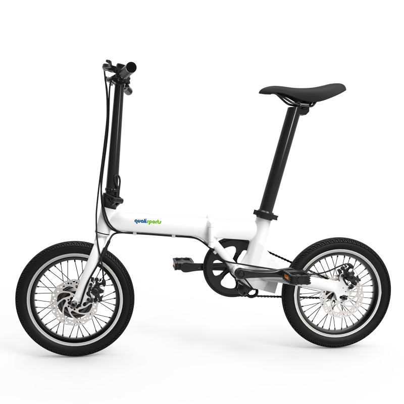 16 inch folding electric bike Smart mini motorcycle Large wheel removable battery electric bike Super light bicycle