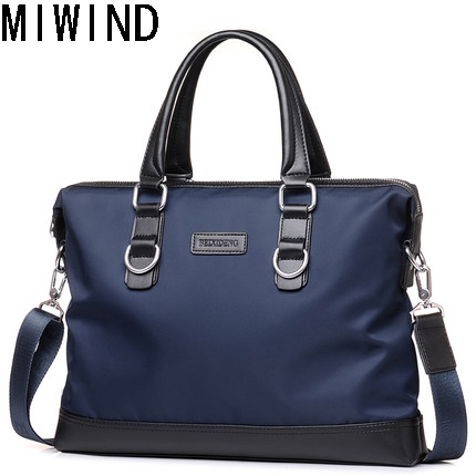 MIWIND Handbags Briefcases Storage-Bag Crossbody-Bag File Business Casual Oxford Men's