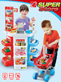 armario de cozinha Play house toy supermarket cash register cart shelf set fun toy pretend play imitate cashier salesclerk kids