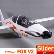 FMS 2300 мм 2,3 м FOX V2 планер с створками 5CH 3S PNP большой размер легкий тренажер радиоуправляемый самолет модель дистанционного управления Самолет авион