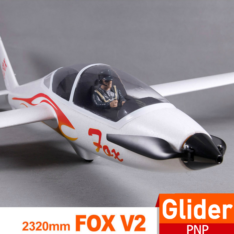 FMS 2300mm 2.3m FOX V2 Glider With Flaps 5CH 3S PNP Big Size Easy Trainer RC Airplane Remote Control Model Plane Aircraft Avion