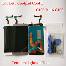 Para letv leeco coolpad cool1 legal 1 c106 c103 r116 display lcd + touch screen digitador assembléia ferramentas gratuitas e vidro temperado