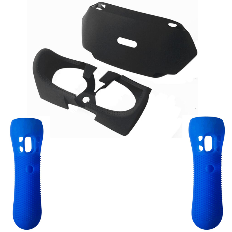 Купить с кэшбэком For PSVR PS VR 3D Glass Protective Silicone Guards Skin Case For PlayStation VR Move Motion Controller Cover for PS VR Headset