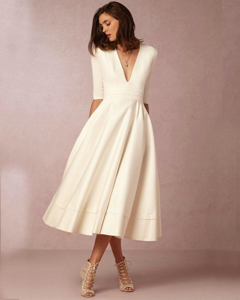 Compare Prices on Vintage Tea Length Wedding Dresses- Online ...