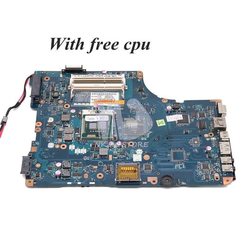 NOKOTION For Toshiba Satellite L500 Laptop Motherboard HM55 DDR3 K000092540 NSWAA LA-5321P Free Cpu
