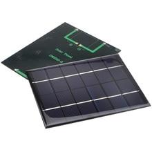 5pcs/lot 6V 330mA 2W Mini Solar Panels Small Solar Power 3.6v Battery Charge Solar Led light solar Cell Drop Shipping 10001026