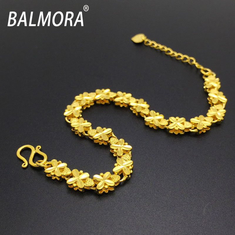 Online Balmora Free Shipping Pure Gold Color Bracelets High