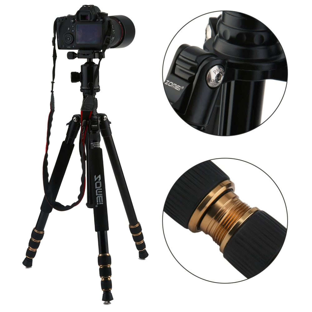 Z668 ZOMEI Professional Portable Camera Tripod Stand Monopod For DSLR Camera Digital Camera With Ball Head