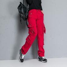 Женские повседневные брюки карго со множеством карманов женские