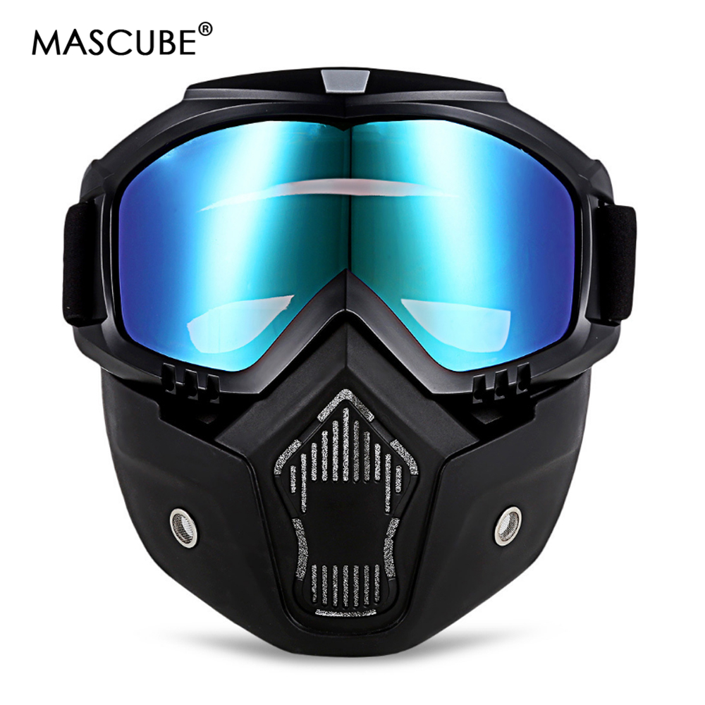 MASCUBE Men Women Professional Snowboard Snowmobile Goggles Snow Winter Windproof Skiing Glasses Motocross Sunglasses Face Mask