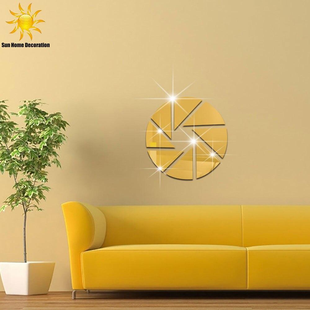 Geometric Patterns Round Combination Acrylic Mirrored Decorative ...