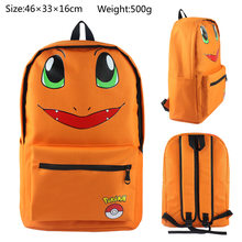 Charmander eevee backpack Small dragon expression backpack Yi bei modelling backpack bag ears(China)