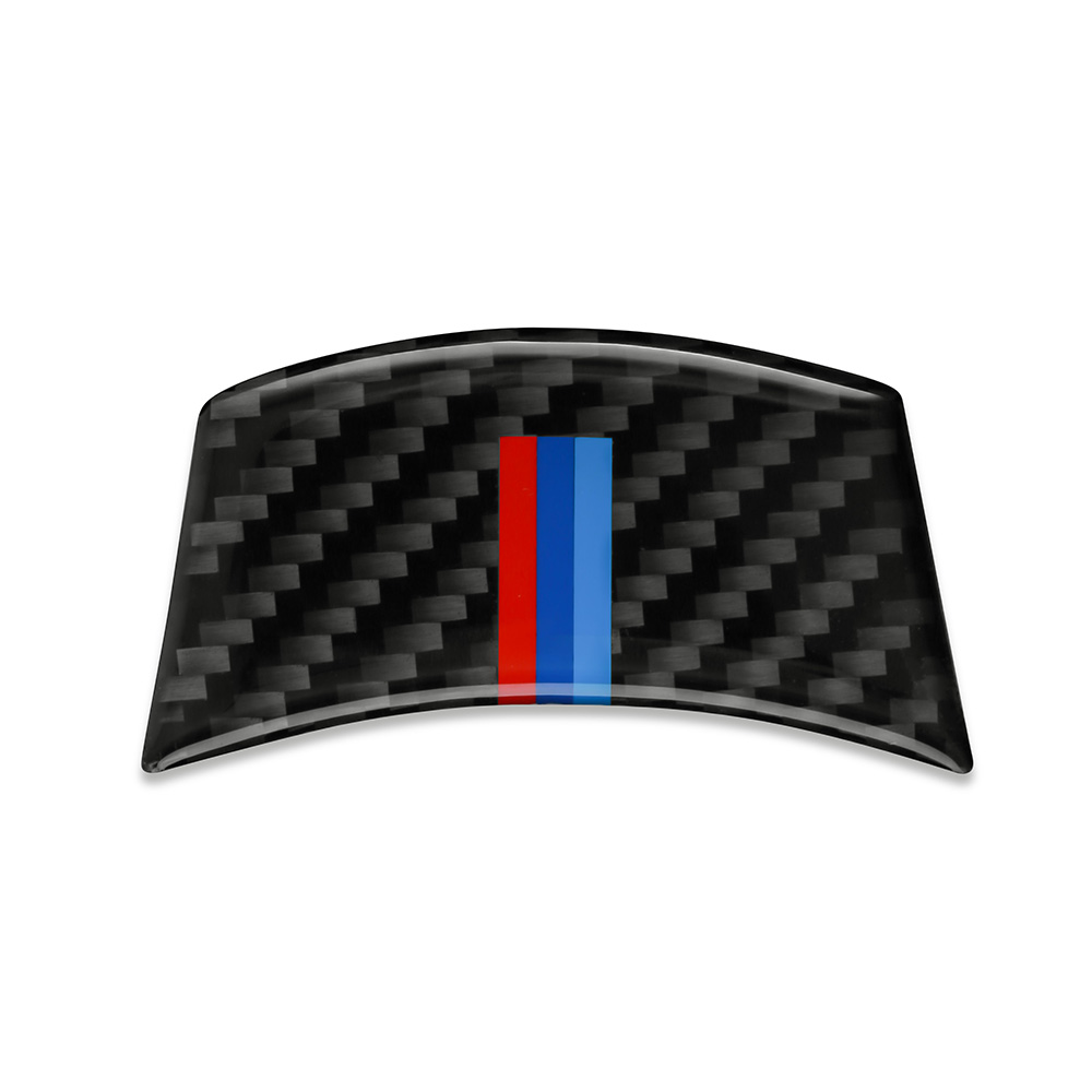 <font><b>Carbon</b></font> Fiber Car Steering Wheel Sticker For <font><b>BMW</b></font> <font><b>E60</b></font> E61 04-10 3D Car Stickers Auto <font><b>Interior</b></font> Decoration Accessory M stripe Emblem image