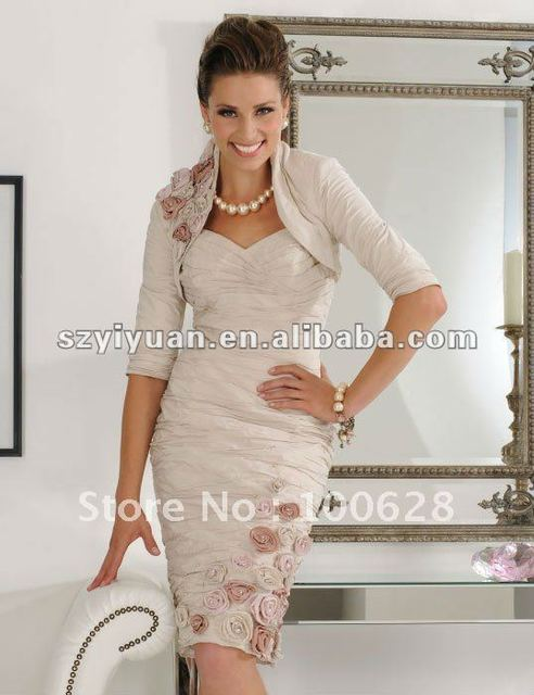 2012 Elegant Fress Jacket Short Mother Of The Bride Dress/Gown