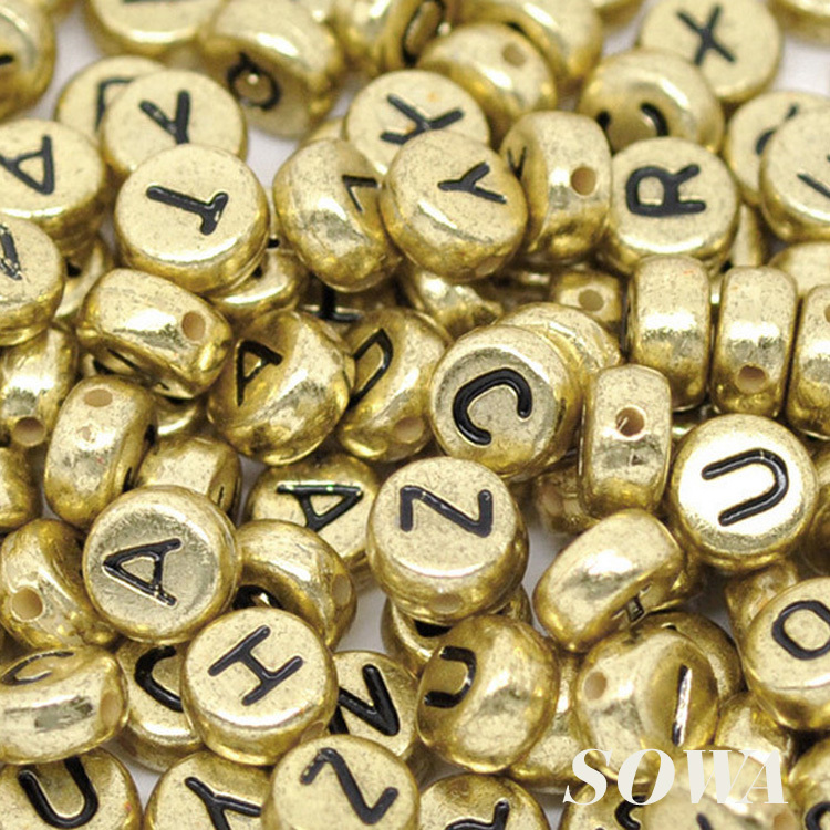 Free Shipping 7mm Spacer 100pcs/lot Gold Tone Color Acyrlic Letter/ Alphabet Cube Beads For Fun Diy Charm Bracelets Pretty And Colorful Apparel Sewing & Fabric Home & Garden
