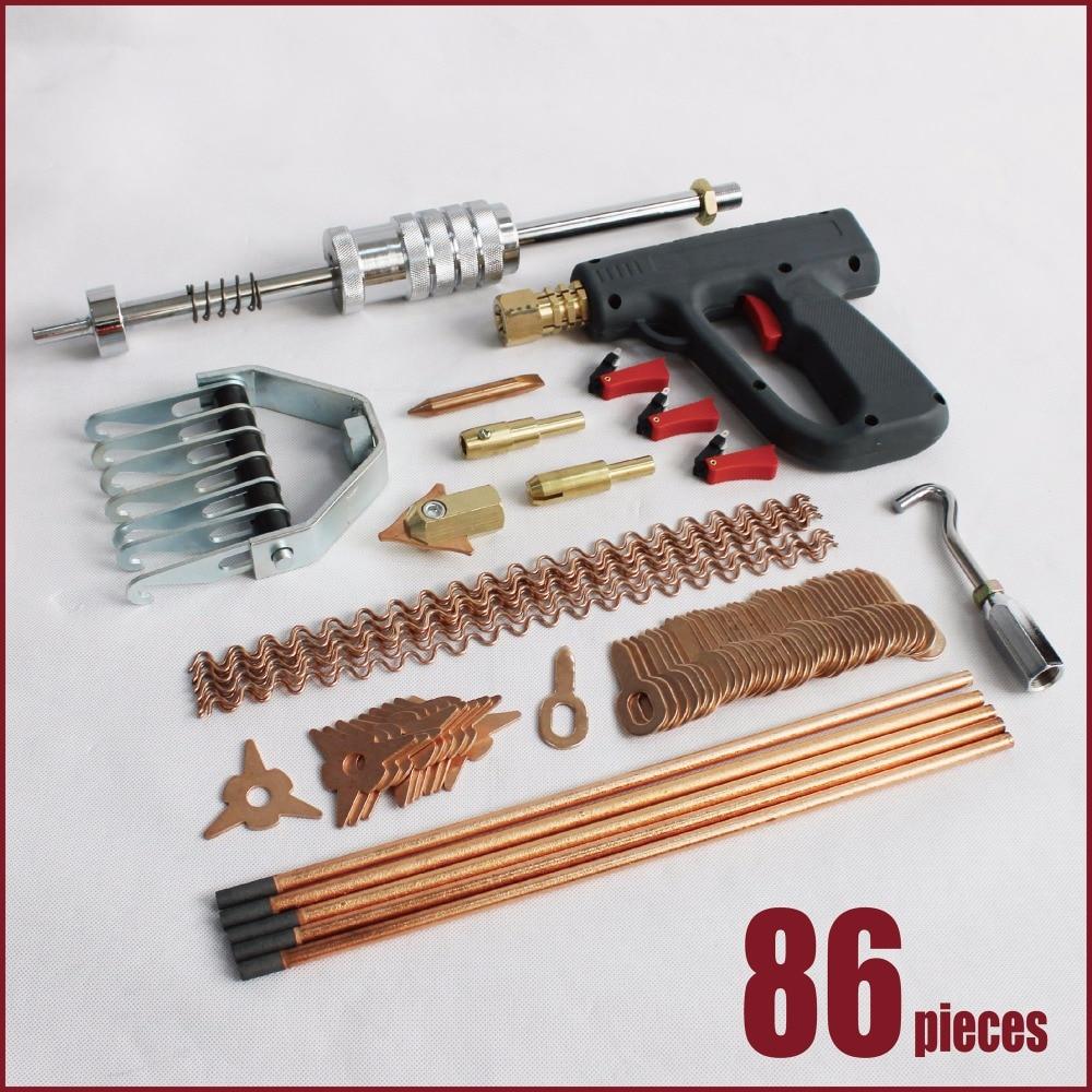 car dent repair tools body mini spot welder welding auto bodyworking spotter hand machine fix mend puller kit metal clamp hammer