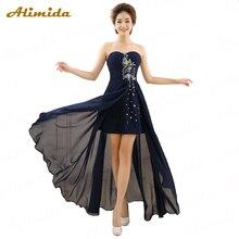 Алимида короткое переднее длинное черное вечернее платье новые элегантные вечерние платья на заказ размера плюс халат longue femme soiree