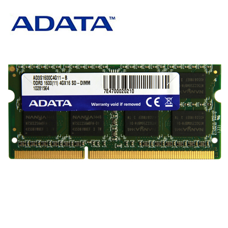 ADATA DDR3 DDR3L 1.35 v 1.5 v SO-DIMM 2 gb gb 8 4 gb 1333 mhz 1600 mhz de Memória Ram PC3-12800 Para Notebook ThinkPad Acer Laptop Ram
