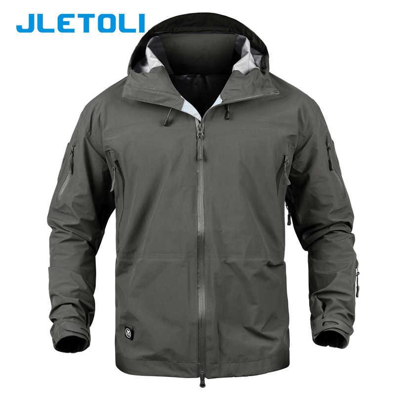 142fd4b0e JLETOLI Waterproof Jacket Windbreaker Winter Outdoor Hiking Jacket Men Women  Coat Windproof Hard Shell Jacket Tactics