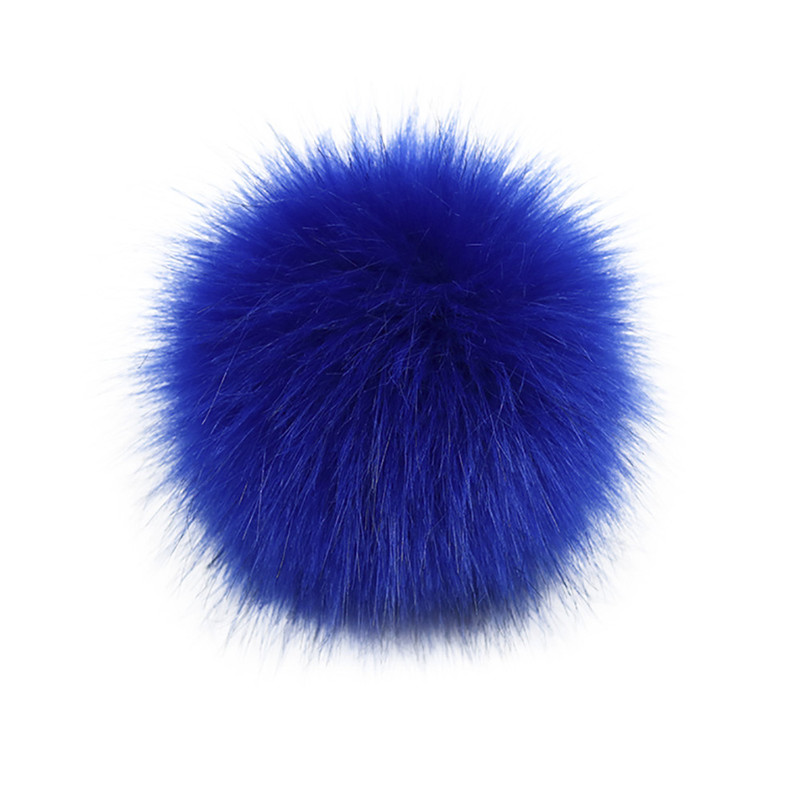 DIY Knitting Hats Accessires-Faux Fake Fur Pom Pom Ball With Press Button Fake Fur Hat Bubble Removable Keychain New A2#