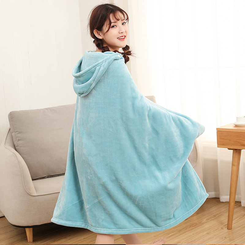 Winter Thick Comfy Hooded Plaid Blanket Sweatshirt Unicorn Warm Coats TV Hoodie Blankets Fleece Blanket Adult for Sofa Beds Kids 18