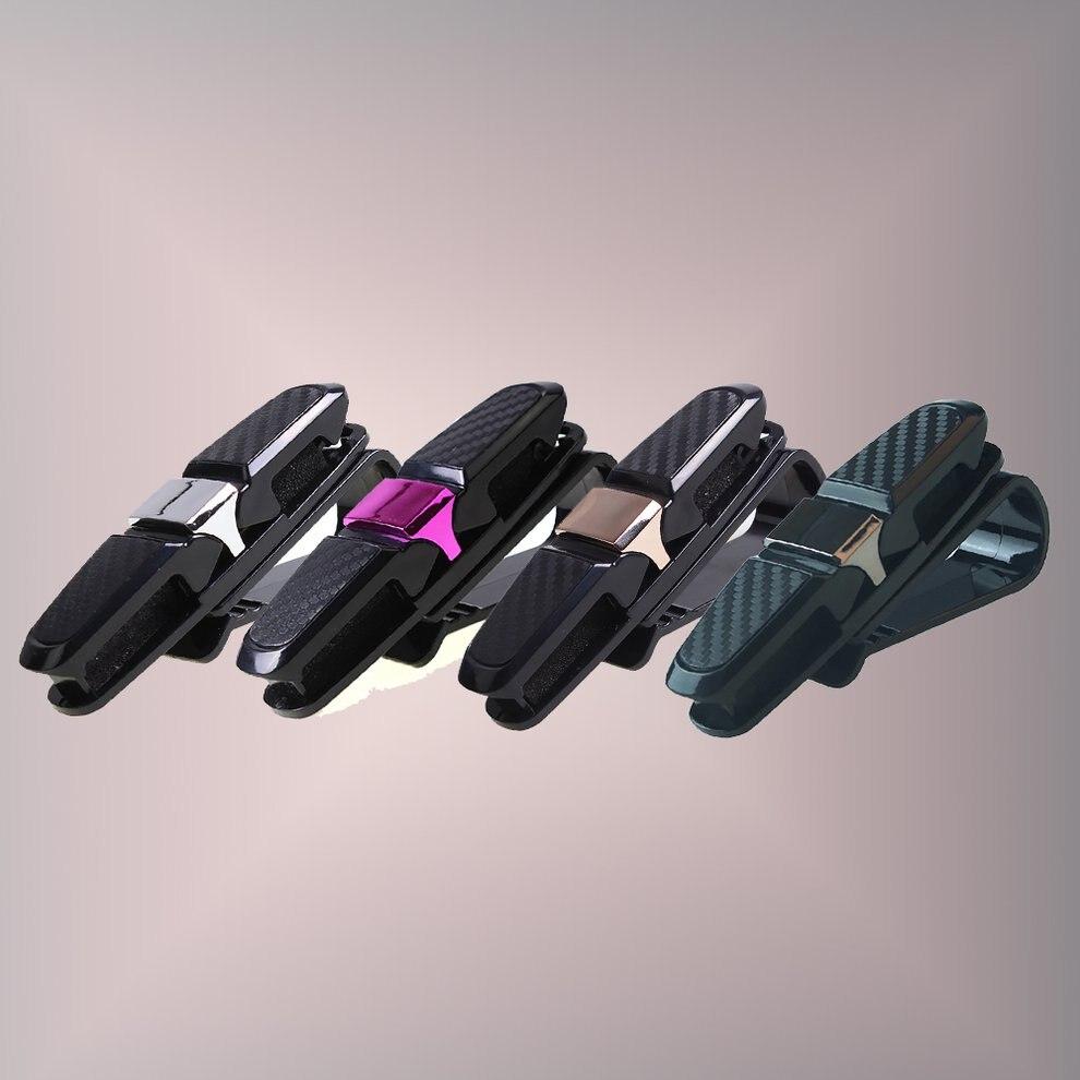Крепежный зажим авто аксессуары ABS автомобиль солнцезащитный козырек солнечные очки, очки держатель зажим для билета