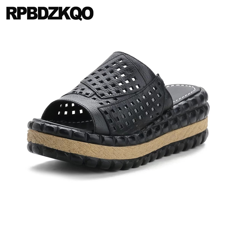 Purple Slides Flat Slip On Ladies Shoes Designer Sandals Women Luxury 2017 Platform Open Toe Genuine Leather 2018 Flatform Pumps black flat casual designer sandals women luxury 2017 summer slip on embellished pearl soft slippers slides shoes open toe metal