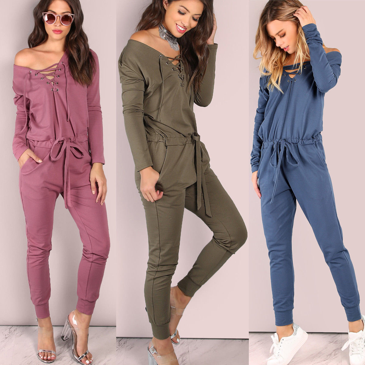 1e2f58827fa HIRIGIN Brand New Fashion Jumpsuits Girls Women Casual Long Sleeve ...
