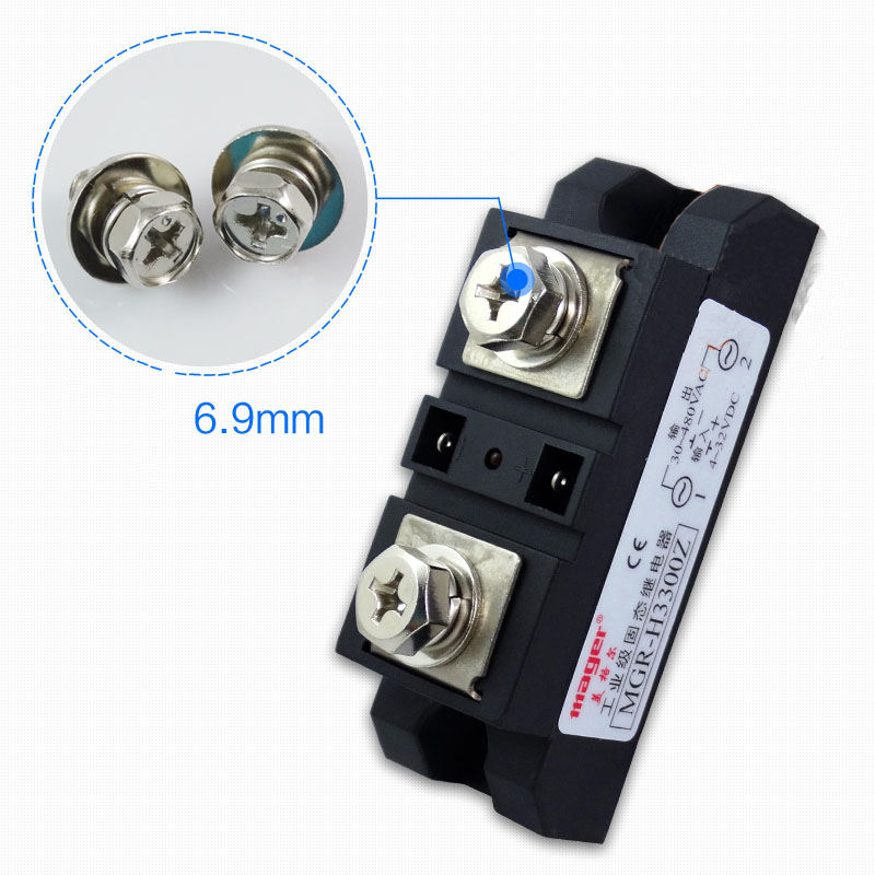 Free shipping 1pc Industrial use 300A DC-AC Solid state relay Quality DC-AC 220V H3300Z 300A Mager SSR free shipping 1pc industrial use 400a dc ac solid state relay quality dc ac mgr h3400z 400a mager ssr