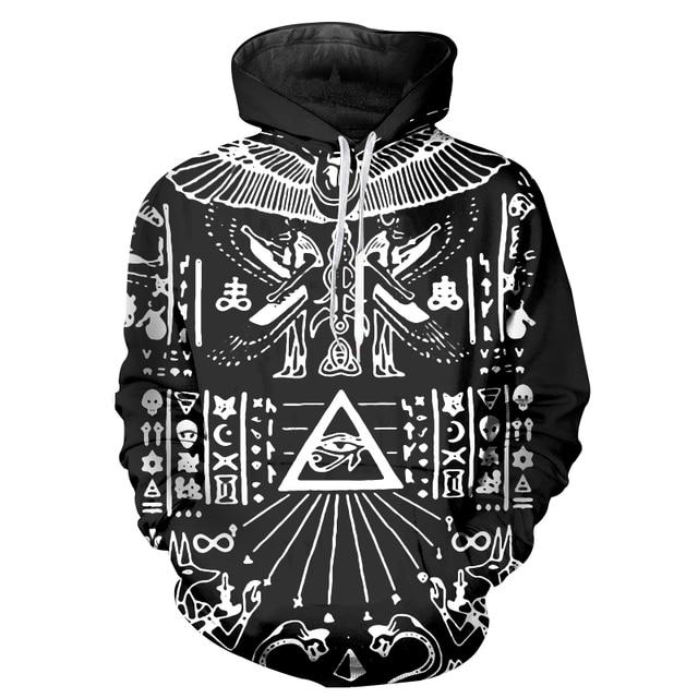 online store 7b90a d5272 Autumn 2017 Casual Brand Clothing Hip Hop Hoodie  Sweatshirt Men Retro Pattern ... 369acc3a23