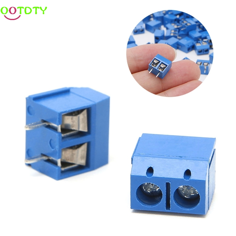 100Pcs/Pack 2 Pin Screw PCB Terminal Block Connector 5mm Pitch  828 Promotion hot factory direct wholesale idc40 male plug 40pin port header terminal breakout pcb board block 2 row screw