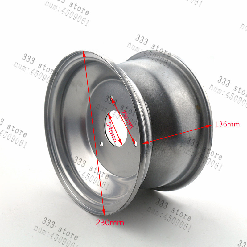 8 polegada roda traseira acessorios rodas brancas 01
