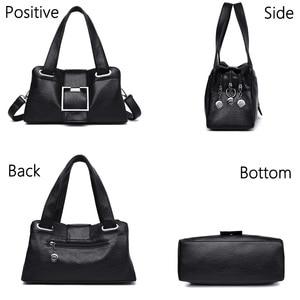Image 4 - 女性革ハンドバッグヴィンテージソフトレザー女性クロスボディショルダーバッグデザイナーブランドレディース高容量トップハンドルバッグ