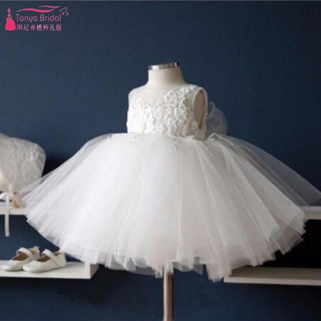 5627fc60c White Cute Flower Girl Dresses 2018 Cheap China Children Party ...
