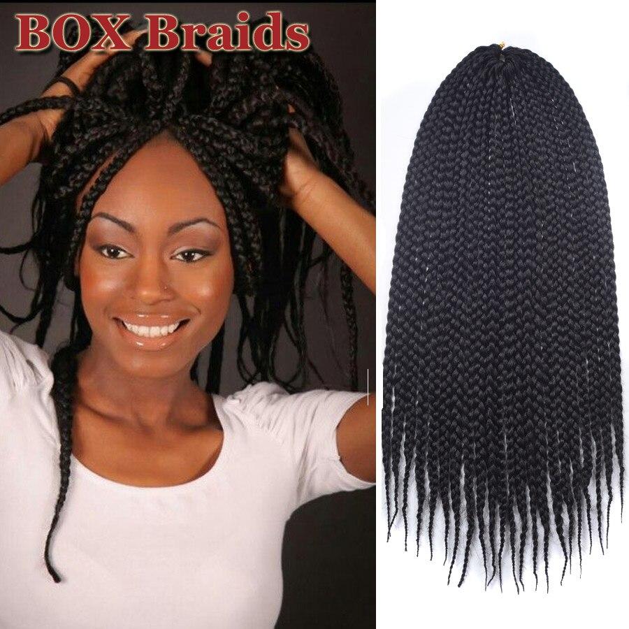 Box Braids Hair Crochet 12 16 20 24 Inch Crochet Hair Extensions ...