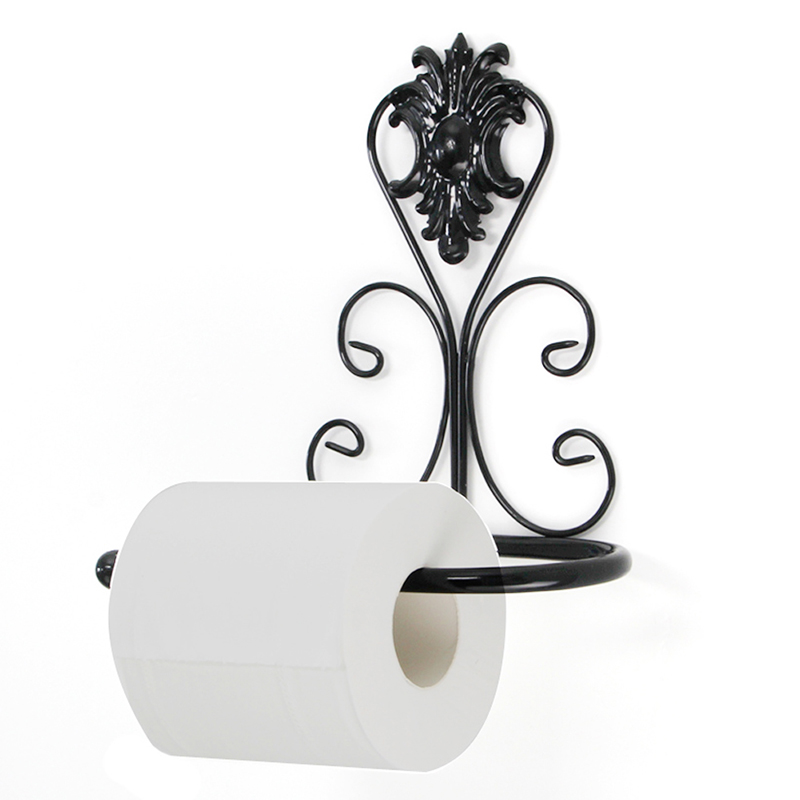 Retro Design Iron Kitchen Tissue Holder Hanging Bathroom Toilet Roll Paper Holder Towel Rack Kitchen Cabinet Door Hook Holder ...