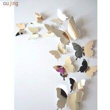 Здесь можно купить  Festival Wall Stickers Decal Butterflies 3D Mirror Wall Art Home Decors  Home Decor