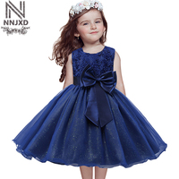 2016 Summer Elsa Girl Dress Short Sleeve Girls Dresses For Kids Princess Snow Queen Children S