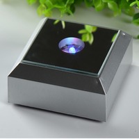 78mm Silver Rectangle LED Plastic Light Base Stand For Jewelry Watch Gifts 2d 3d Laser Crystal