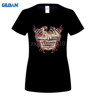 Gildanファッションブランドコットンtシャツ古い学校原子ガレージピンアップ米国車ホットロッドv8 tシャツブラックスタイルtシャ