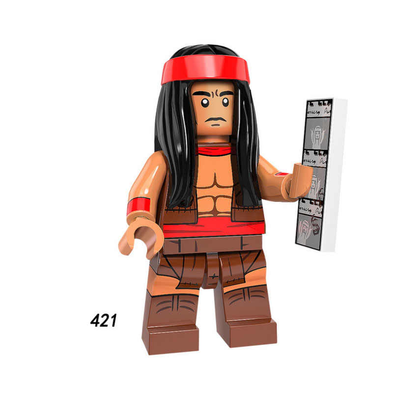 Single Sale Super Heroes Star Wars 421 Apache chief Model Mini Building Blocks Figure Bricks Toys gift Compatible Legoed Ninjaed