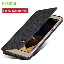 Huawei Honor 7 чехол откидная крышка блеск кожи Роскошные кремния в исходном для Huawei Honor7 случае телефон Screen Protector ТПУ 5.2 дюймов