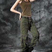 Модные, стильные, Осенние, летние, джинсовые, армейские, зеленые, свободные штаны, джинсы с несколькими карманами, мешковатые брюки-карго для женщин и девушек, большой размер
