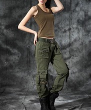 الاسلوب المناسب الخريف والصيف الدنيم الجيش الأخضر السراويل فضفاضة متعددة جيب الجينز فضفاض السراويل البضائع للنساء الفتيات حجم كبير