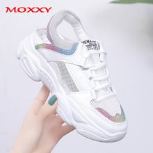 2019 New Summer White Sneakers Women Shoes Female Sport Woman dames Colorful Chunky Mesh zapatos mujer