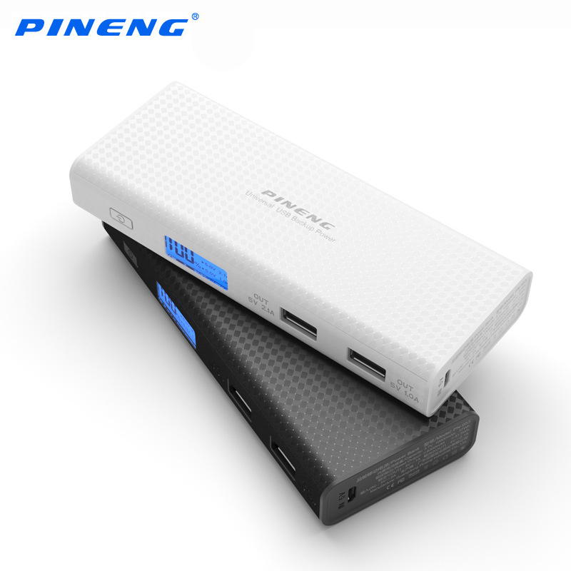 Pineng Power Bank 10000mah LCD External Battery Portable Mobile Fast Charger Dual USB Powerbank for iPhone 6 Samsung Tablet 9