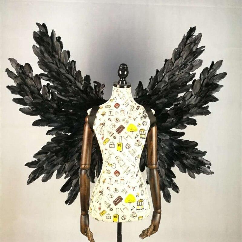 Ailes créatives belles ailes noires filmées modèles volants montrant anges plume Bar café magasin décoration murale accessoires d'affichage